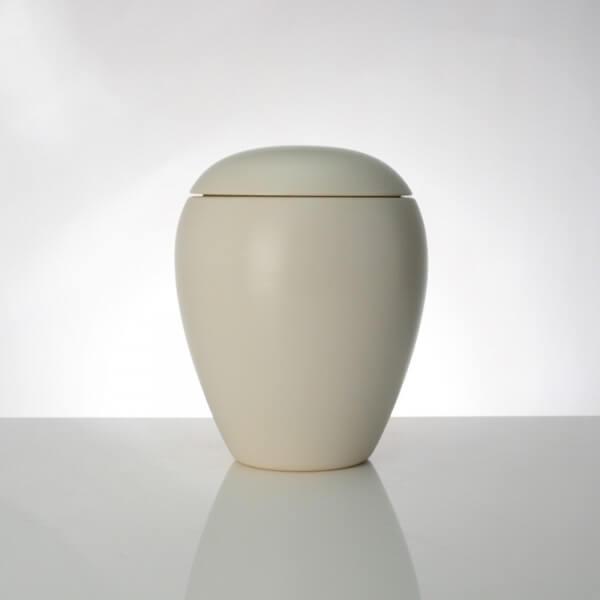 Keramikurne, Bianco, Weiß Matt